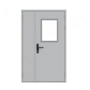 Дверь противопожарная металлическая ДПМ-2 EI-60 (двуполая с остеклением)